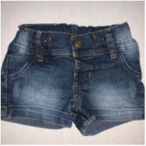 Short Jeans Aconchego do Bebê - 6 a 9 meses - Aconchego do Bebê