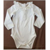 Body marfim com renda na gola - 6 a 9 meses - Milon