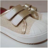 Tênis Branco/dourado Pimpolho - 21 - Pimpolho