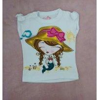 Camiseta menina - 6 a 9 meses - Baby Club
