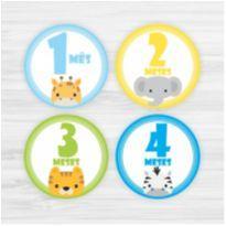 Adesivos Mesversário 1-12 Meses Bebê Safari Menino -  - Não informada