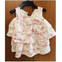 Vestidinho de seda com babados, Lilica Ripilica, usado uma única vez. - 6 a 9 meses - Lilica Ripilica Baby
