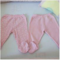 Kit duas calças de bebê menina - 0 a 3 meses - Alô bebê