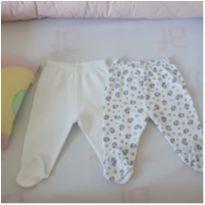 Kit duas calças de bebê com pezinho - 0 a 3 meses - Alô bebê