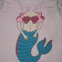 Camiseta sereia - 2 anos - Caedu
