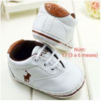 Sapato para bebê polo branco Pronta entrega