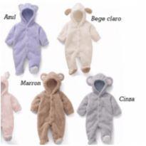 Macacão para bebê peludinho menino e menina - Recém Nascido - Importado