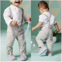 Conjunto menino calça camisa e suspensório 2 anos - 18 a 24 meses - Importada