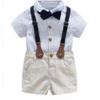 Conjunto para bebê social menino novos - 3 a 6 meses - Importada