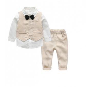 Conjunto social para Bebê Menino 3 peças - 12 a 18 meses - Importado