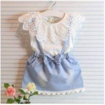 Jardineira Vestido Infantil menina - 1 ano - Importado