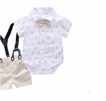 Conjunto bebê menino social 3 peças Casamento Batizado Aniversário - 6 meses - Importado