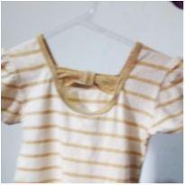Vestidinho dourado - 12 a 18 meses - C&A
