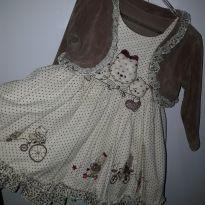 Vestido com bolerinho - 12 a 18 meses - Cattai