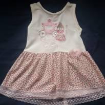 Vestido infantil Princesinha tamanho 2 - 18 a 24 meses - Não informada