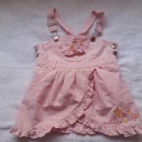 Salopete Jardineira  infantil rosa Lilica Baby original 16 a 20 meses - 18 a 24 meses - Lilica Ripilica