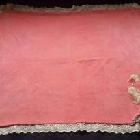 Manta importada para bebê marca Les Amis cor rosa -  - Les Amis