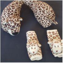 kit Protetor de Cinto Oncinha e almofada travesseiro pescoço para bebês -  - Zip Toys