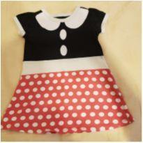 Vestido Minnie tamanho 2 - 2 anos - Não informada