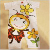 Macacão Para Bebê Em Malha Stica Stica Joaninha Get Baby Tamanho 2 T - 18 a 24 meses - Get Baby