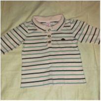 Blusa listrada rosa manga longa Lilica Ripilica tamanho 2 P - 18 a 24 meses - Lilica Ripilica
