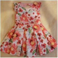 Vestido Floral tamanho 2 rosa Babados Mon Sucré original - 2 anos - Mon Sucré