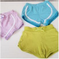 Lote 3 shorts infantil menina tamanho 3 - 24 a 36 meses - Não informada