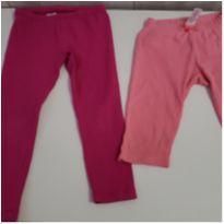 Lote duas calças moletom Gymboree infantil feminina tamanho 2 e 3 anos - 3 anos - Gymboree