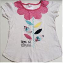 Blusa branca infantil By Gus Bring me Sunshine tam 3 - 3 anos - By Gus