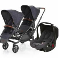 Carrinho de Bebê Para Gêmeos ABC Design Zoom + 2 Bebê Conforto. -  - ABC Design