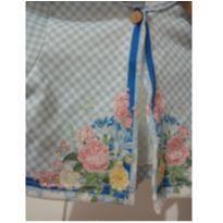 Bolero Petit Cherie xadrez e floral - 6 a 9 meses - Petit Cherie