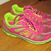 Tenis rosa e verde - 28 - Skechers