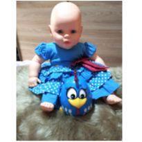 Combo Vestido e brinquedo galinha pintadinha - 6 a 9 meses - Menina Bonita