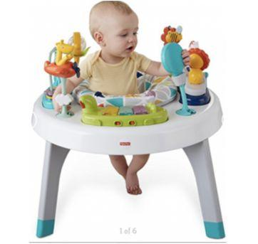 Centro de Atividades Fisher-Price 2-in-1 Sit to Stand Activity Center, Spin ?n P - Sem faixa etaria - Fisher Price