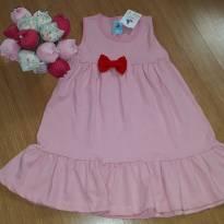 Vestido rosa nunca usado - mas LER A DESCRIÇÃO - 3 anos - Nacional