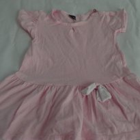 Vestido rosa para Primevera - 9 a 12 meses - Basic + Baby