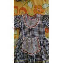 Vestido xadrez de festa junina - 2 anos - Sem marca