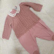 macacão em tricô e malha - 0 a 3 meses - Beth bebê  e Have fun