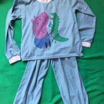 Pijama George Pig Azul - 4 anos - Sem marca