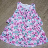 Vestido de coração - 9 a 12 meses - Arte Menor