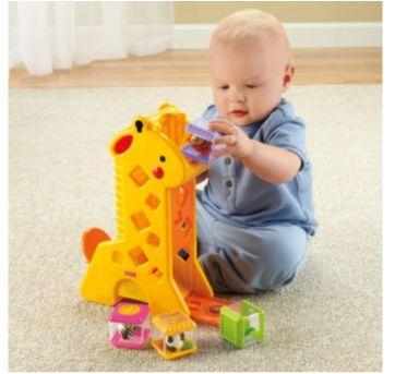 Girafa Musical Peek-a-Blocks Fisher Price - Sem faixa etaria - Fisher Price