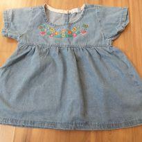 Bata jeans bordada número 4 - 4 anos - Bambini