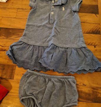 Vestidinho Ralph Lauren - 6 meses - Ralph Lauren