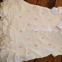 Vestidinho Ralph Lauren branco com logos coloridos - 6 a 9 meses - Ralph Lauren