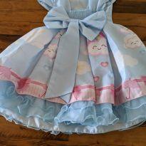 Vestido de Festa - Chuva de amor - 1 ano - Não informada
