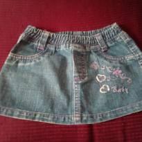 Saia Jeans - 12 a 18 meses - Não informada
