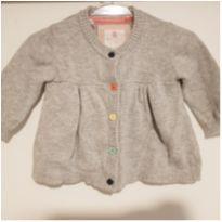 Casaco cinza liso em linha - 0 a 3 meses - Baby Club