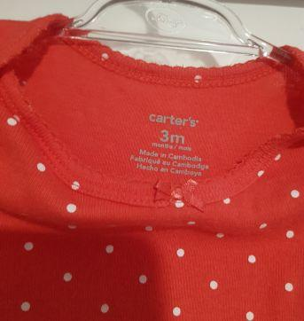 Body poá - Kit Bodies Carter`s - 3 meses - Carter`s