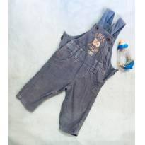 Jardineira/Macacão Jeans - 3 a 6 meses - Chicote