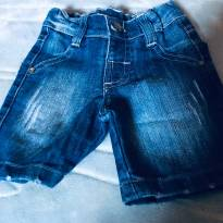 Shorts Jeans Kibaby - 0 a 3 meses - kibaby